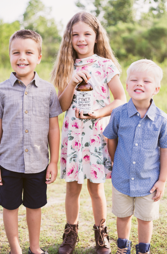 Lowery's children, Beckham, age 5, Rowyn, age 7, and Pearson, age 3.