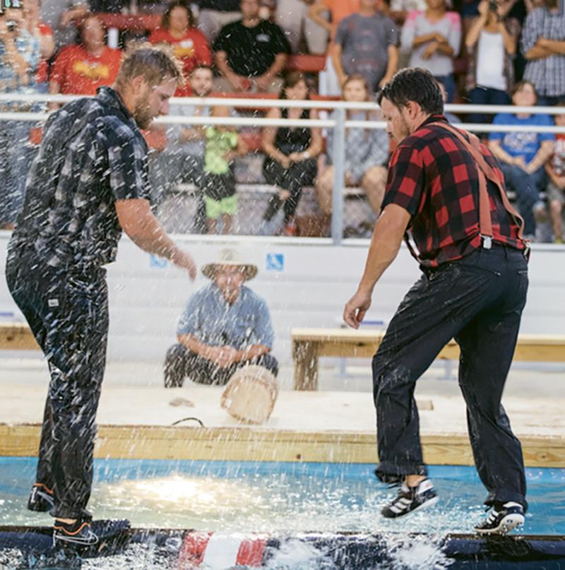 Lumberjacks battle for points and bragging rights at Paula Deen's Lumberjack Feud.
