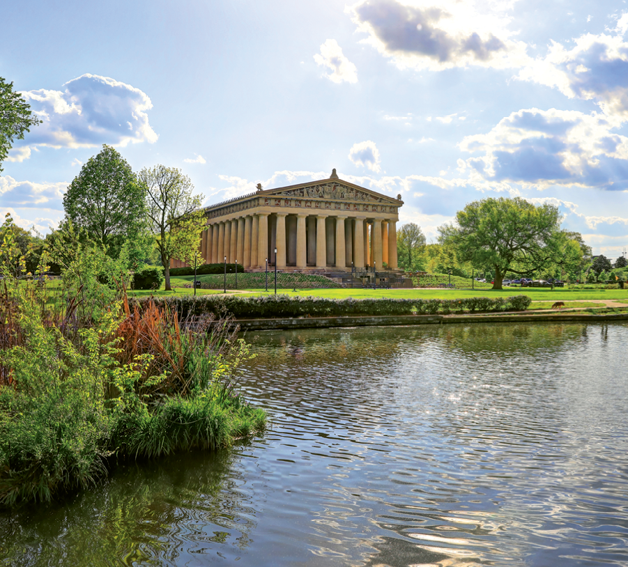 Designed and built in 1897 for Nashville's Centennial Exposition, The Parthenon is the world's only full scale replica of the Greek temple.